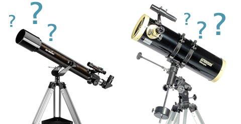 Résultats de recherche d'images pour «lunette vs télescope»