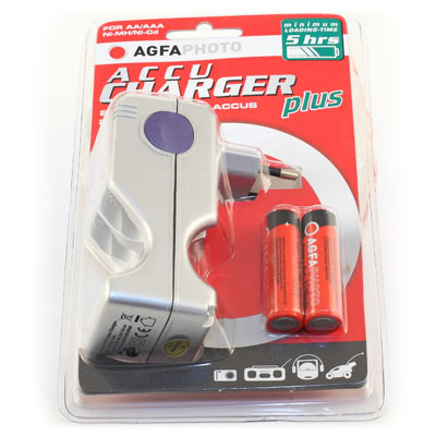 Chargeur AGFAPHOTO Inclus 2 Piles AA