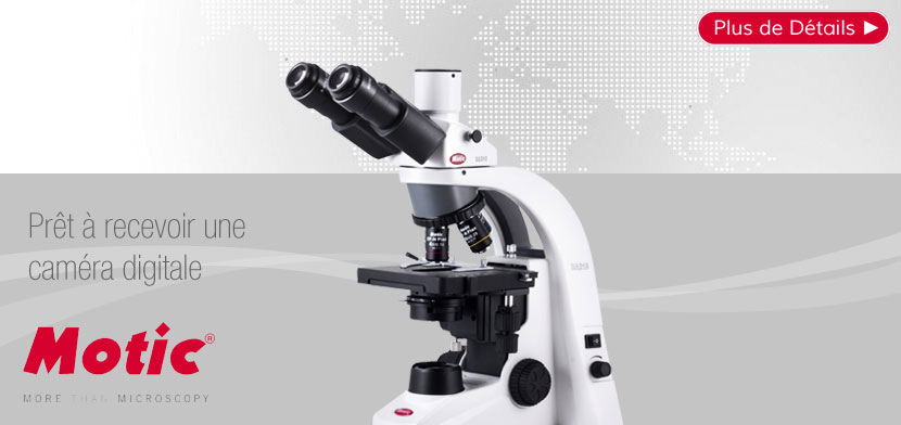 Microscope Trinoculaire MOTIC BA210 LED 1000x