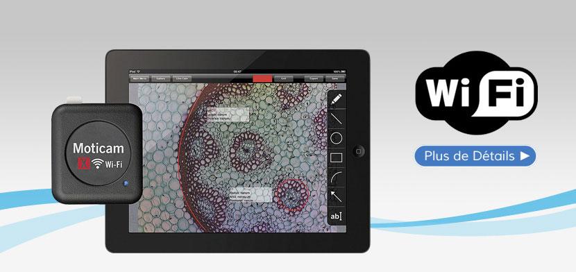 Caméra Numérique Couleur MOTICAM X WiFi