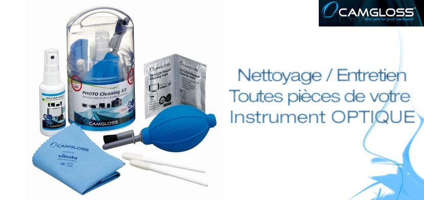 Kit CAMGLOSS pour Nettoyage Optique